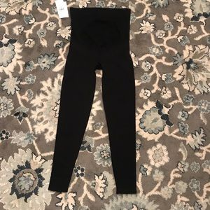 Blanqi maternity belly support leggings black